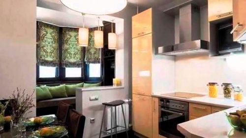 дизайн кухні з балконом фото інтерєру кухні суміщеної з балконом